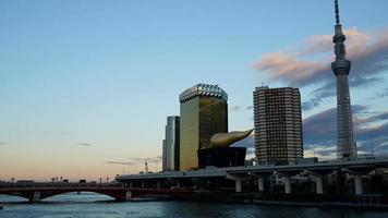 lapso de tiempo, ciudad de tokio, en, japón