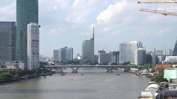 Bangkok city with river in Thailand video