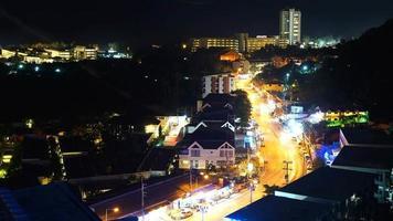 lapso de tempo do horizonte da cidade de phuket na Tailândia video
