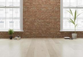 Interior empty room in 3D rendering
