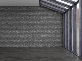 habitación vacía interior en representación 3d foto