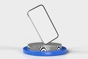 teléfono inteligente móvil, maqueta de teléfono celular para aplicaciones móviles, render 3d