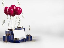 feliz dia de san valentin 3d render decoraciones foto