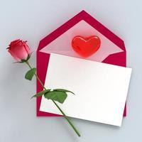 feliz dia de san valentin maqueta de decoracion 3d foto