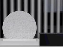 representación 3d minimalista de formas geométricas abstractas foto