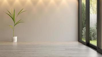 Interior empty room in 3D rendering photo