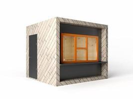 Stand de tienda de diseño moderno en representación 3d