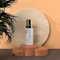 cosmética, belleza para el cuidado de la piel, maqueta de diseño de paquete foto
