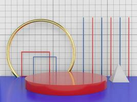 Geometric shape minimal design elements, 3d rendering photo