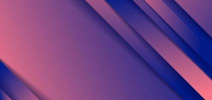 Abstract diagonal stripes blue and pink gradient shape background with shadow paper cut style vector