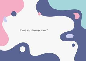 Abstract modern fluid pastel color on white background flat minimal design vector