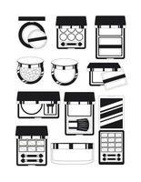 conjunto de productos de maquillaje vector