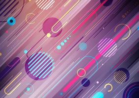 Creative abstract dynamic geometric elements pattern design vector