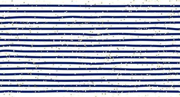 Abstract blue stripes pattern and gold glitter background and texture. vector