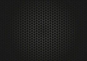 patrón hexagonal negro abstracto sobre fondo de oro brillante y textura. vector