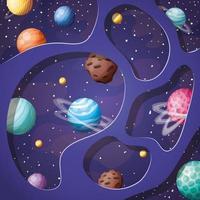 Ilustración de vector de diseño de planetas del sistema solar