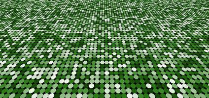 Abstract pattern green shimmer perspective background with circles shiny light and dark. Mosaic texture. vector