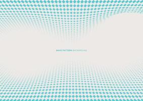 Abstract dynamic wave blue square halftone on white background with space for your text vector