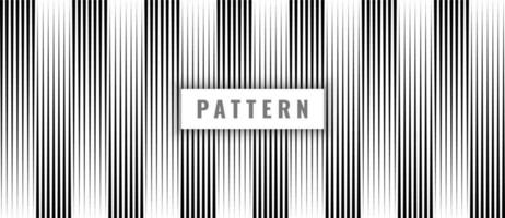 Abstract seamless pattern black vertical lines on white background and texture. vector
