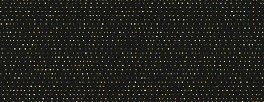 Small random dots gold pattern on black background vector