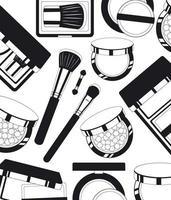 fondo de patrón de productos de maquillaje vector