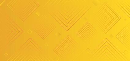 Fondo de moda moderno abstracto elementos cuadrados de color degradado amarillo. vector