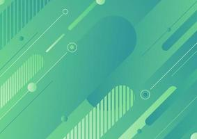 Abstract modern green color diagonal geometric rounded lines shapes background vector