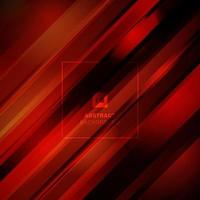 Abstract red color light diagonal line technology concept on black background. vector