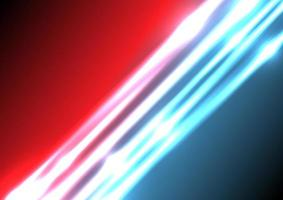 Abstract blue and red lighting effect background with space for your text. vector