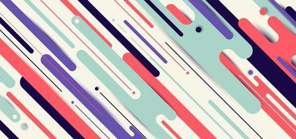 Banner web template design abstract dynamic rounded lines diagonal pattern geometric background vector