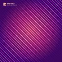 Abstract pattern diagonal stripes laser line light on pink and purple color background. vector