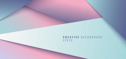Abstract creative modern geometric triangle paper cut style background. vector