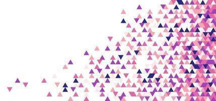 Patrón de mosaico de forma de triángulos geométricos abstractos de color rosa, púrpura, azul sobre fondo blanco vector