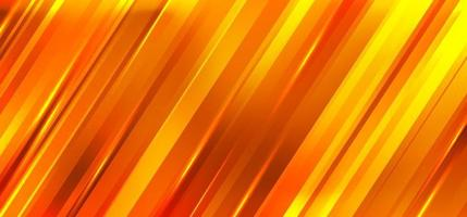 Abstract orange and yellow gradient diagonal stripes motion blur background vector