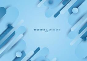 Abstract blue geometric circle rounded line shape overlapping layer on light blue background vector