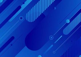 Abstract modern blue color diagonal geometric rounded lines shapes background. vector