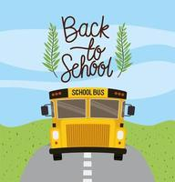 school bus transport in the road