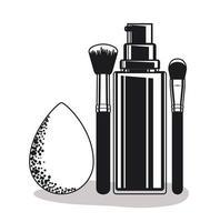 productos de maquillaje sencillos vector