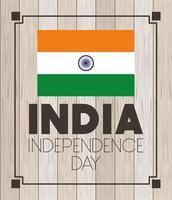 feliz dia de la independencia de india vector