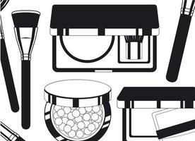 conjunto de marco de productos de maquillaje alrededor vector