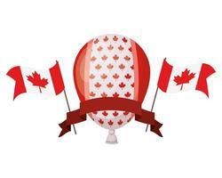 celebración del día de canadá con globo vector