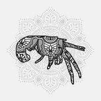 mandala de animales marinos. elementos decorativos vintage. patrón oriental, ilustración vectorial. vector