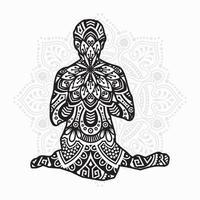 Yoga Mandala. Vintage decorative elements. Oriental pattern, vector illustration.