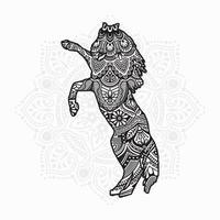 Horse Mandala. Vintage decorative elements. Oriental pattern, vector illustration.