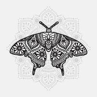 Insect Mandala. Vintage decorative elements. Oriental pattern, vector illustration.