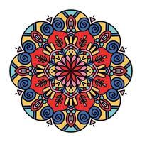 Colorful floral mandala background vector
