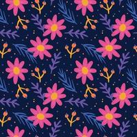Hand drawn floral pattern vector