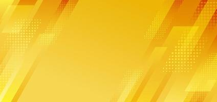 Abstract yellow diagonal stripes geometric with halftone effect background. vector
