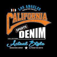 California vintage typography apparel design vector