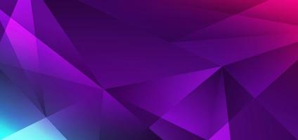 Fondo y textura geométricos del gradiente del polígono bajo azul, rosado, púrpura moderno abstracto vector